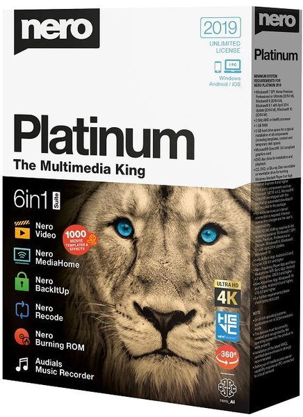 Nero Platinum 2019 Suite 20.0.06500 (2019) PC