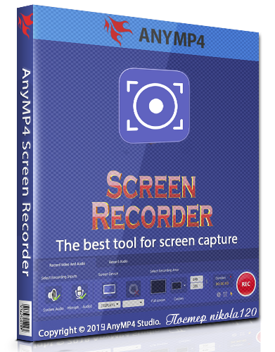 AnyMP4 Screen Recorder 1.2.22 (2019) РС | RePack & Portable